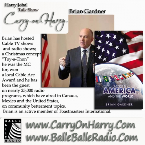 Brian Gardner Award-winning journalist, author of Plan for America and The World