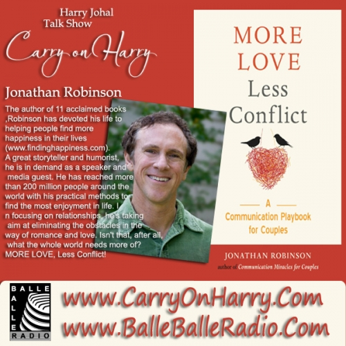Jonathan Robinson, a renowned psychotherapist and bestselling author MORE LOVE, Less Conflict!