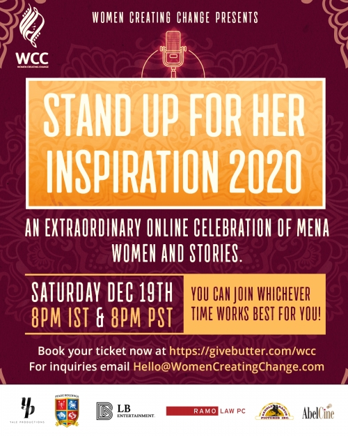 "Arab & Israeli Women in Entertainment Unite for ""Stand Up 4 Her : Inspiration 2020"""